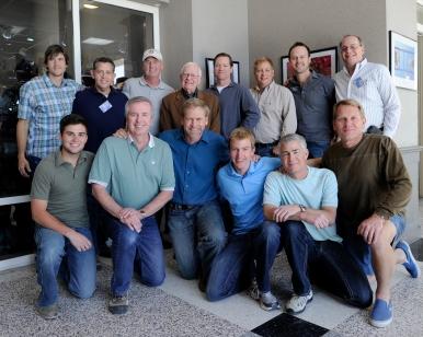 Back row from left: Keith Ladzinski, Bob Rosato, Dave Black, Rich Clarkson, Brad Smith, Mark Terrill, Brett Wilhelm, Richard Mackson. Front row from left: Matt Sewick, Bob Smith, Mark Reis, Steve Nowland, Joey Terrill, Jeff Jacobsen (Mugilan Rajasegeran)