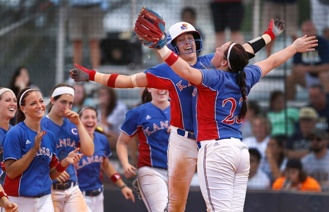 KU softball off to a flying start.