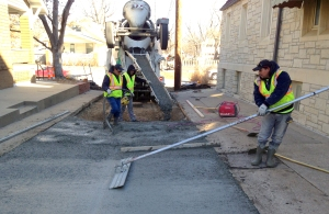 Laying new pavement in February, but only a small portion.