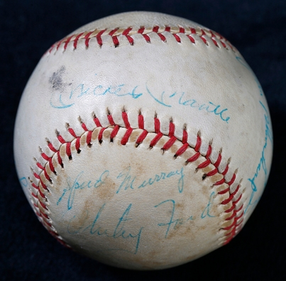 The Mickey Mantle batting practice baseball