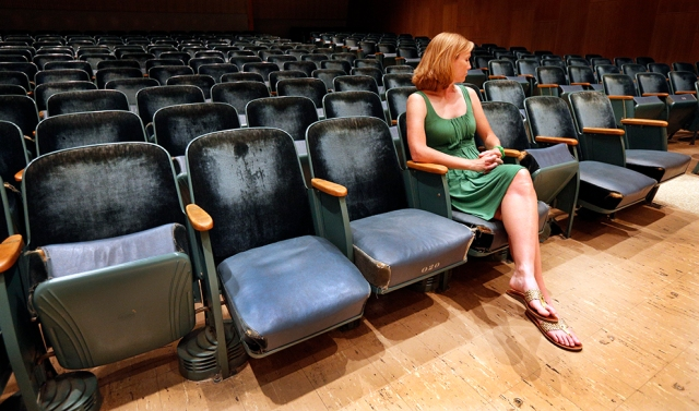 Worn seating in Swarthout Recital Hall