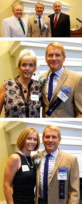 Great friends Mark Nordstrom and Mike Van Dyke, my sister Sally Gragg and finally the love of my life, Laura. Me I look like I just won something at a 4H event with my blue ribon.