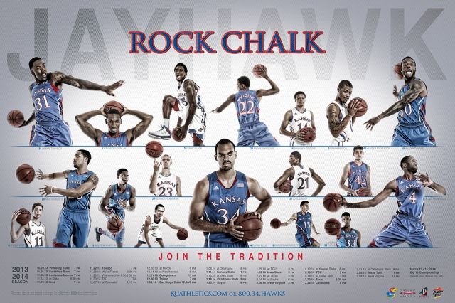 The 2013-14 KU Men's Basketball Poster