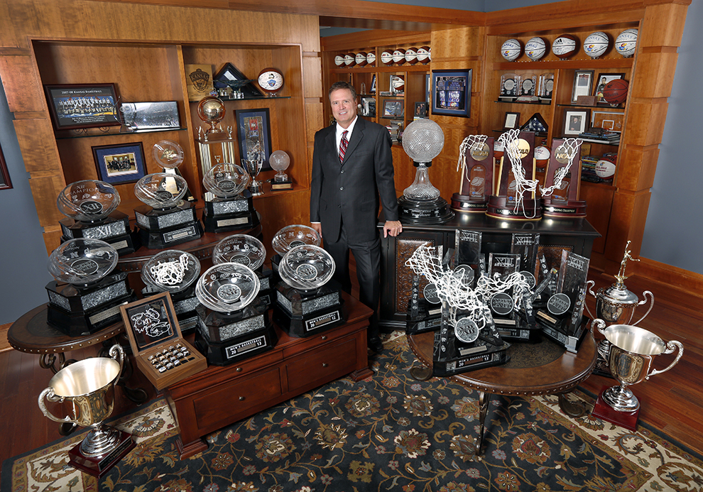 Coach Self Photo Of Trophies In His Office Needed