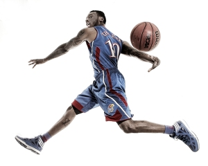A photo of Naadir Tharpe I liked but did not work with design.