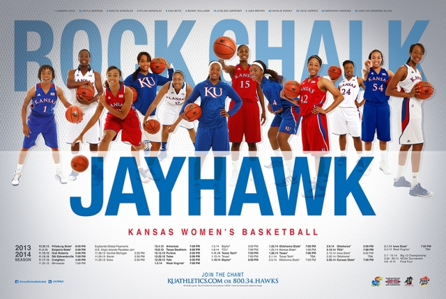 The 2013-13 Women's Basketball Poster