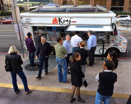 Kogi Taco Truck in downtown Los Angeles.