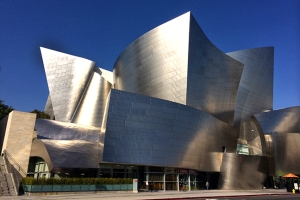The Walt Disney Concert Hall, home of the LA Philharmonic.