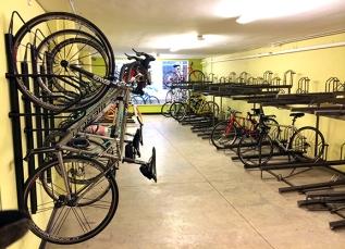 Urban Shark's commuter cycling station.