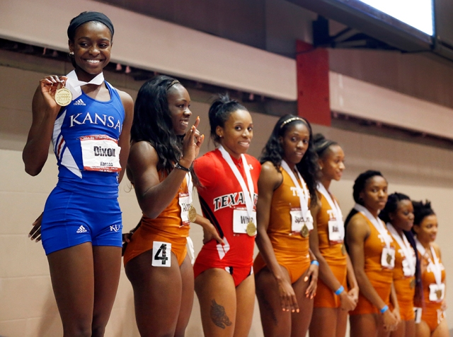"Diamond Dixon, her medal and the rest of the  ""Great State of Texas."""