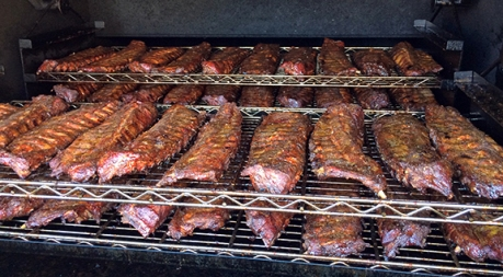 Racks of Pappy's Ribs.