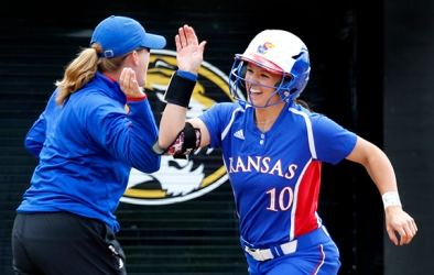 Taylor Hatfield's home run lifted KU to a game one victory.