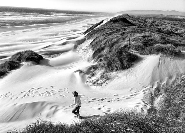 The sand dunes along the Oregon coast.