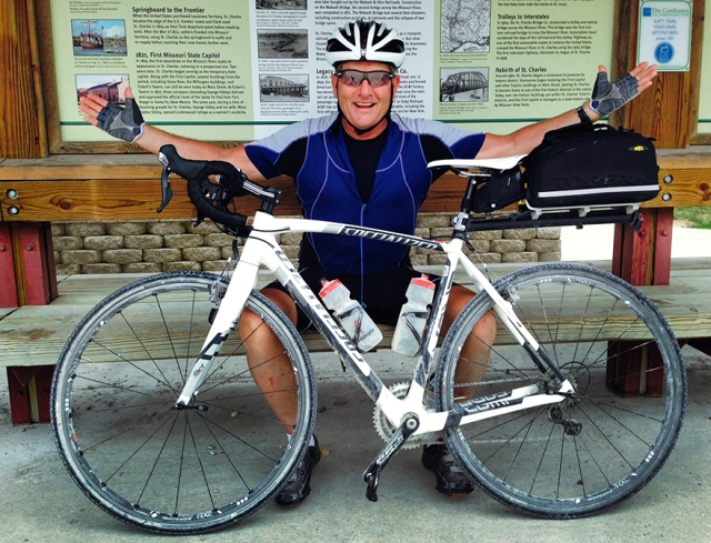 The bike that carried across MIssouri on the Katy Trail  (Laura Jacobsen)
