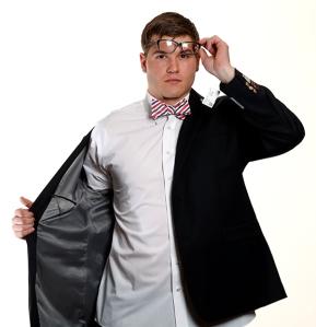 QB Jordan Darling with his Clark Kent look.