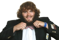 Offensive lineman Mike Smithburg styling.