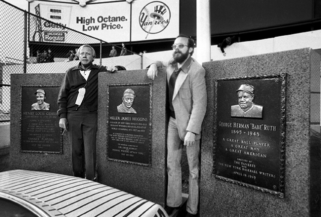 It was my privilege to cover the three playoffs with two of the finest journalist I know, the late Bob Hentzen and Ken Leiker posing in Monument Park in centerfield at the old Yankee Stadium.