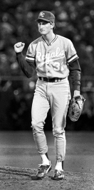 A game-four fist pump from  Saberhagen.
