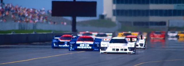 The exotic Prototype IMSA cars sped down the straight at Heartland Park Topeka.