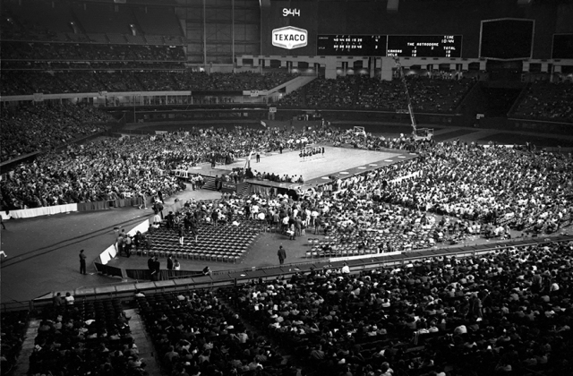The Astrodome in its baseball setup hosted the 1971 Final Four.