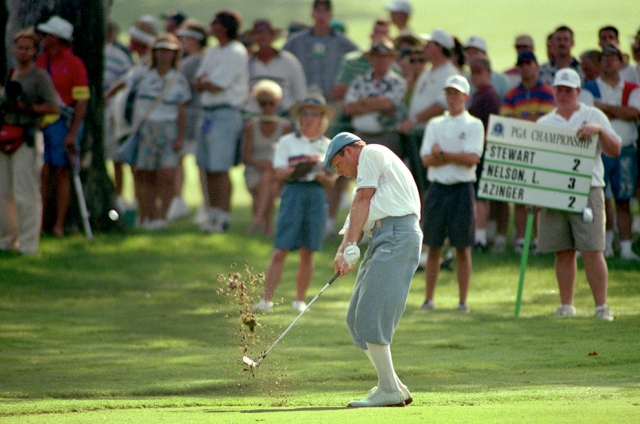 Payne Stewart in his famed plus fours. In 1999, Stewart died in a tragic plane crash.