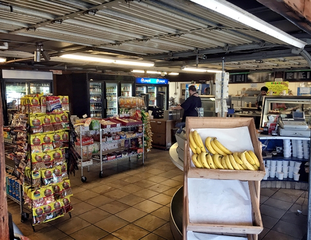 With the Seabreeze garage doors open, there were plenty of real fruits and nuts.